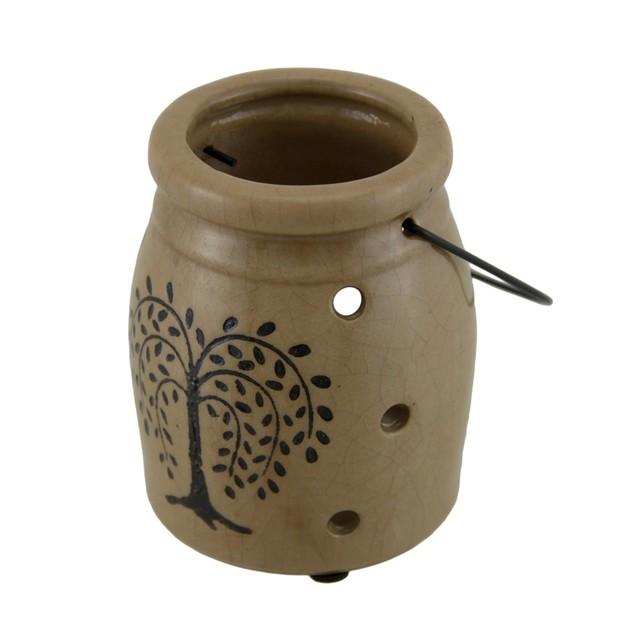 Crackle Finish Porcelain Willow Tree Decorative Candleholders