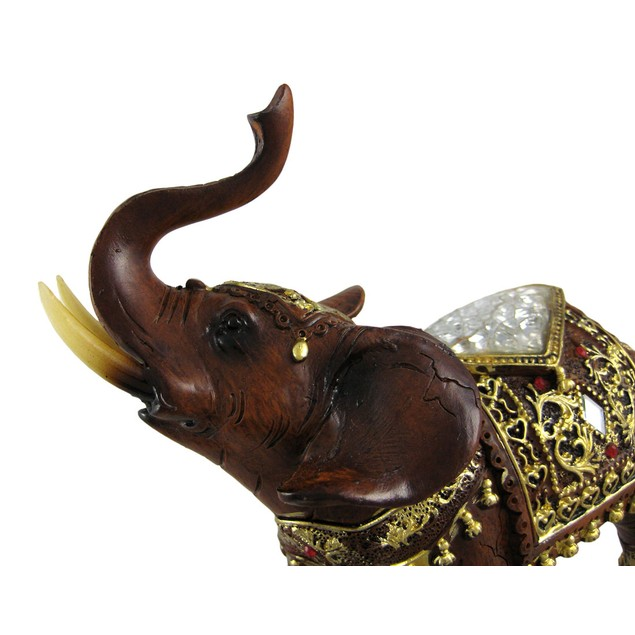 Gorgeous Wood Finish Indian Elephant Statue Statues