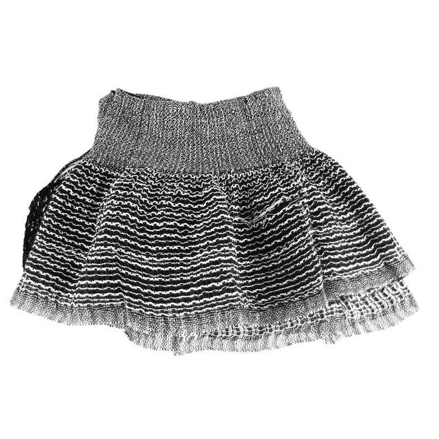 Black & White Metallic Stretchy Hip Scarf Womens Fashion Scarves