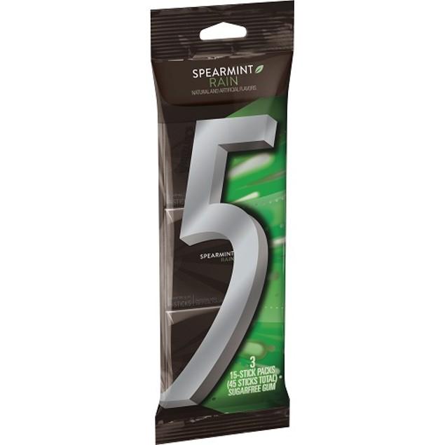 Wrigley's 5 Spearmint Rain Gum 3 pk