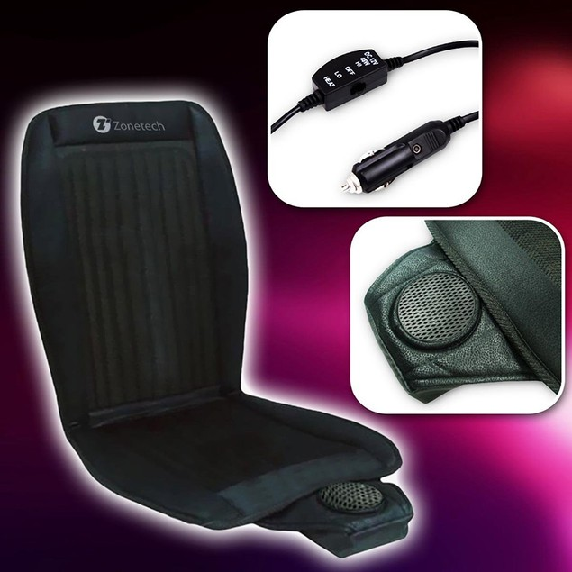Zone Tech Cooling Car Seat Summer Cushion Cooler 12V Adjustable Temperature