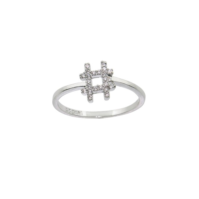 Pavé Punctuation Rings - 4 Styles