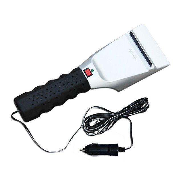 Zone Tech Car 12V Heated Electric Windshield Ice Scraper Snow Melter