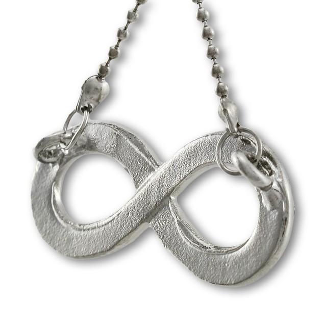 Rhinestone Encrusted Infinity Symbol Pendant W/ Chain Necklaces