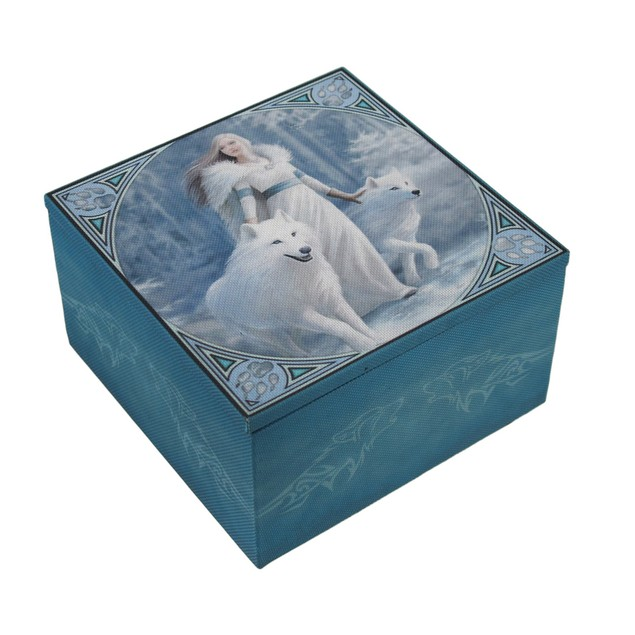 Anne Stokes Winter Guardians Fabric Covered Decorative Boxes