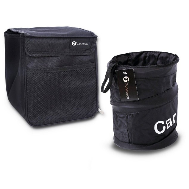 Zone Tech Collapsible Pop-up LeakProof Trash Can Compact Litter Storage Bag