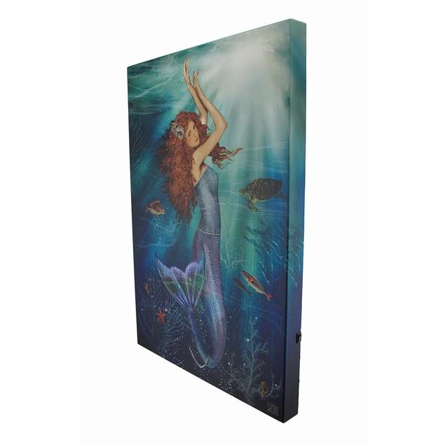 Led Lighted Magic Mermaid Canvas Wall Print Prints