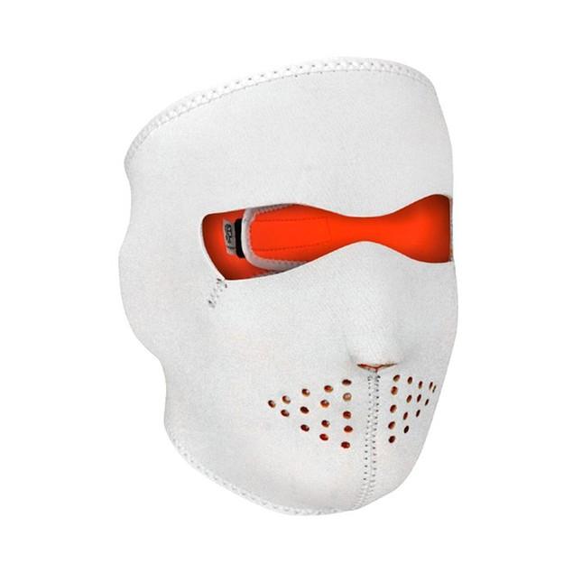 Neoprene White Reversible to High Vis Orange Full Face Mask