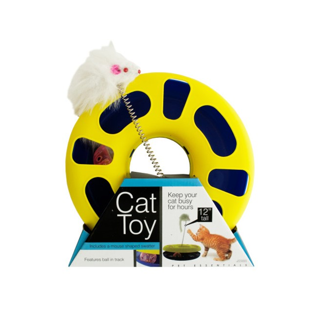 Ball Track Cat Toy With Mouse Swatter
