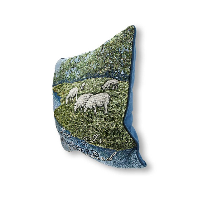 Woven Tapestry The Lord Is My Shepherd Decorative Throw Pillows