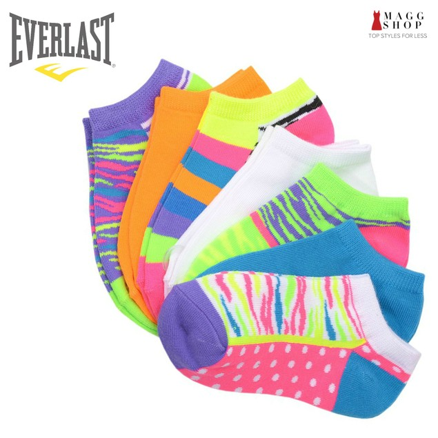 Everlast Womens No Show Athletic Ankle Socks (Pack of 7,14 or 21 pairs)