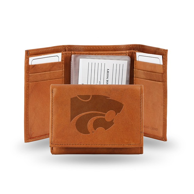 Kansas State Leather Manmade Trifold