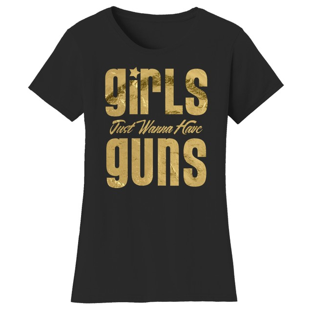 GirlsGuns Short Sleeve Crew Neck Graphic Tshirt