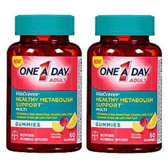 ONE A DAY VitaCraves Adult Healthy Metabolism Support Gummies 2 Bottle Pack