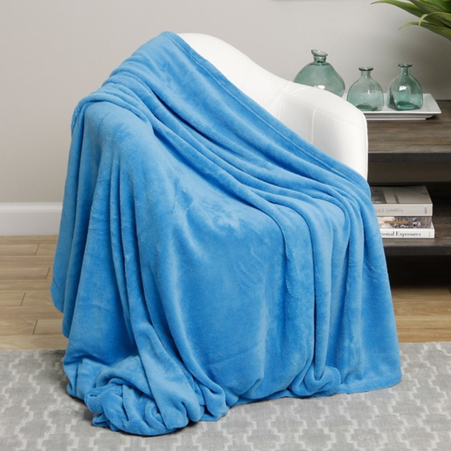 2-Pack Mystery Deal: Luxurious Cozy Plush Flannel Fleece Throw Blankets
