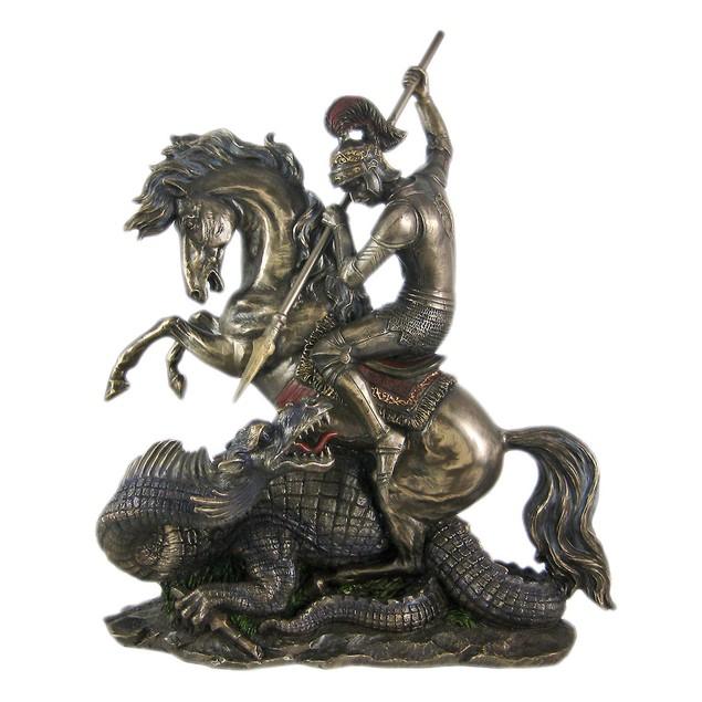 Bronze St. George The Dragon Slayer Statue Statues