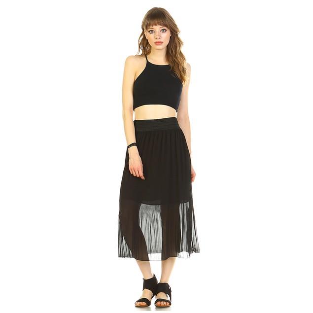 White Mark Universal Pleated Midi Skirt - 3 Colors