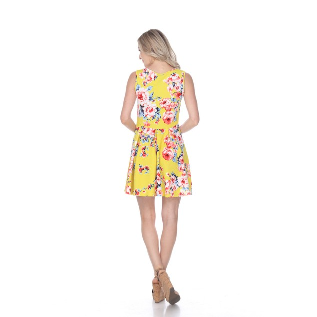 Floral Print Fit and Flare Mini Dress - 12 Colors
