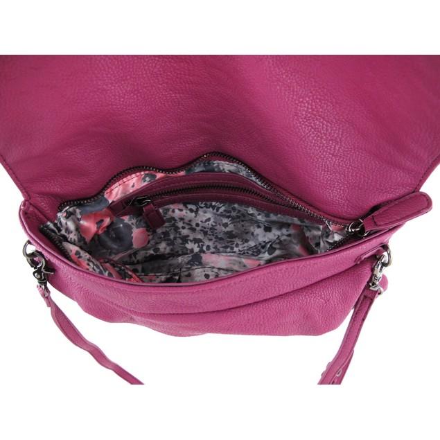 Plum Purple Pebblegrain Vinyl Clutch Purse With Womens Clutch Handbags