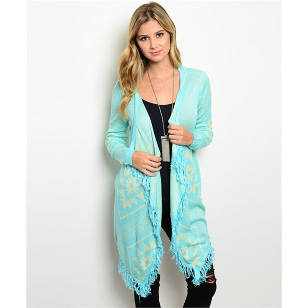 Tribal Knit Cardigan Sweater - 3 Colors
