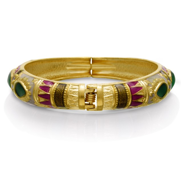 Gold Plated Indian Inspired Enamel Bracelet