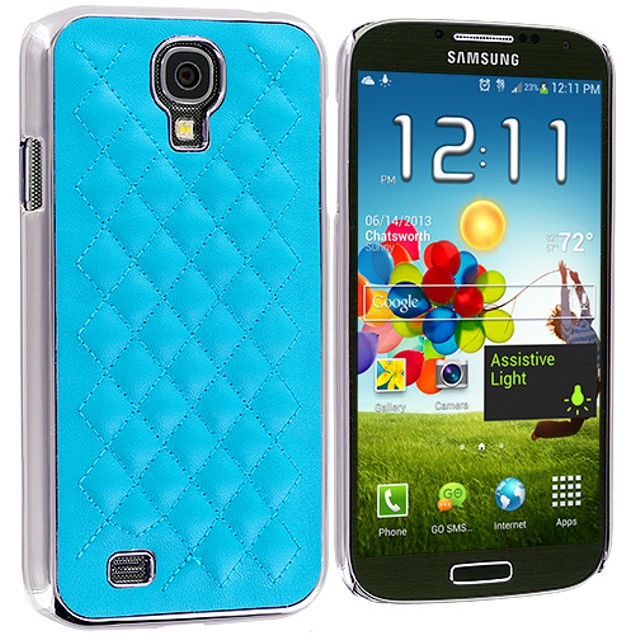 Samsung Galaxy S4 Metal Quilted Hard Soft Case Cover