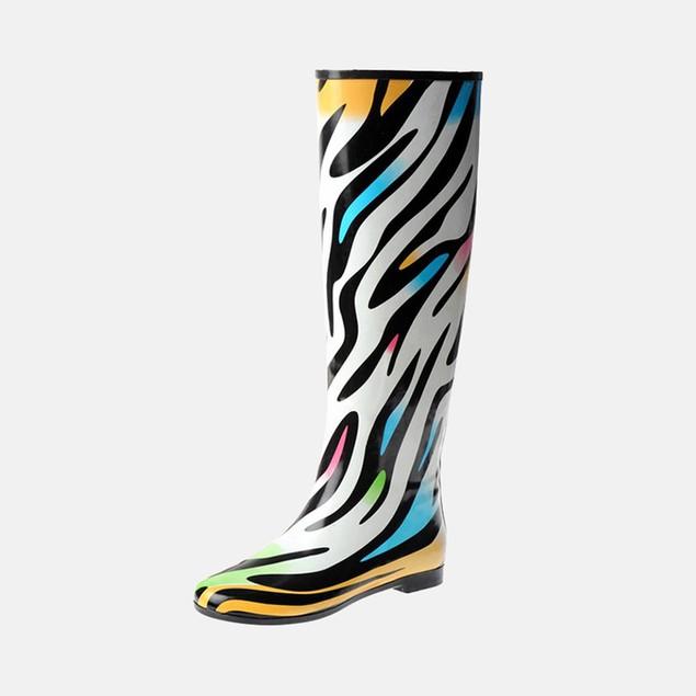Henry Ferrera Women's Colorado Zebra Rain Boots