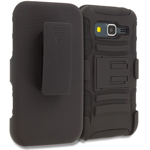 Samsung Galaxy Core Prime G360P Hybrid Heavy Duty Case Cover Belt Clip Holster