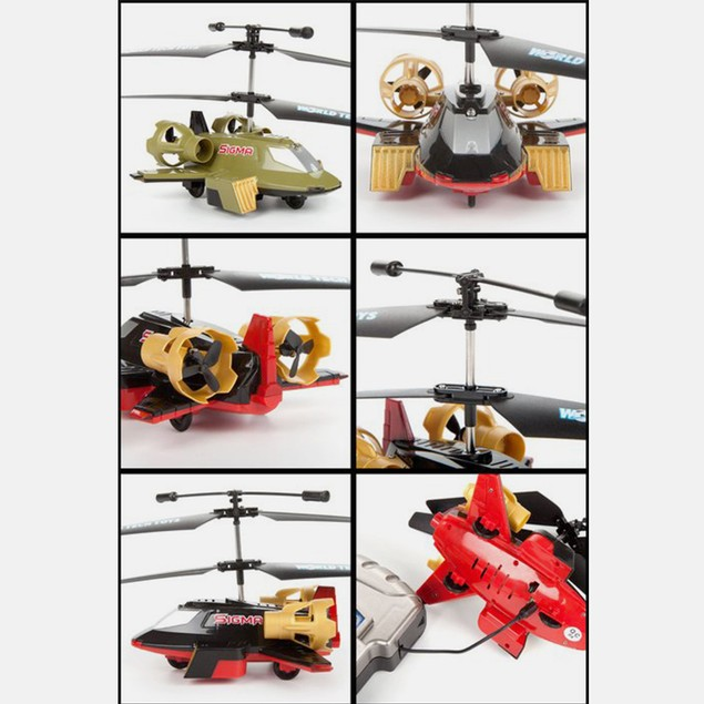 Sigma 2CH Land and Sky RC Helicopter