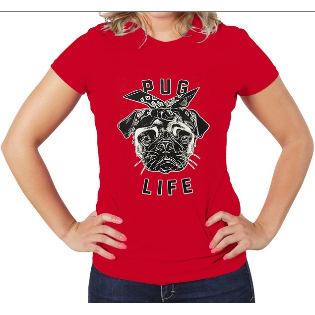"""Pug Life"" Women's Graphic T-Shirt"