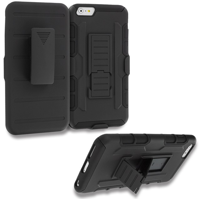 Apple iPhone 6 Plus (5.5) Hybrid Case Cover Belt Clip Robot Holster
