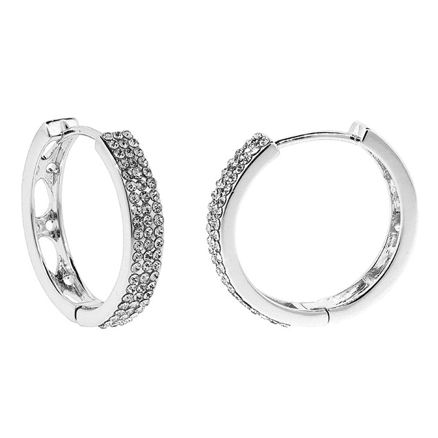 Divine Elegance 3ctw Hoops with Swarovski Elements