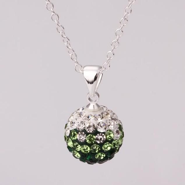 Multi-Toned Austrian Stone Necklace -Green