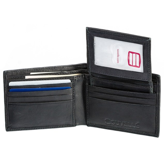 Suvelle Men's Antique Genuine Leather Wallet