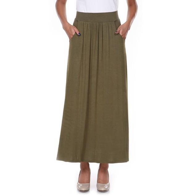 Olive Maxi Skirt