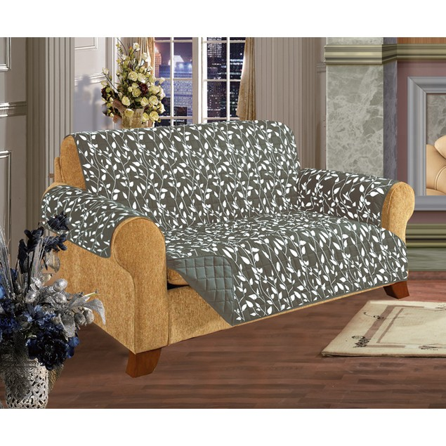 Quilted Leaf Design Reversible Furniture Protector - Assorted Styles