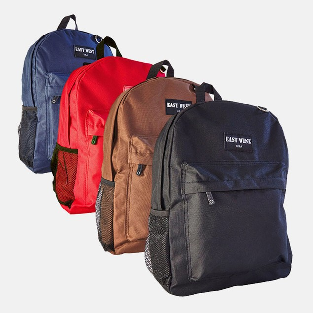 East West Solid Student Backpack