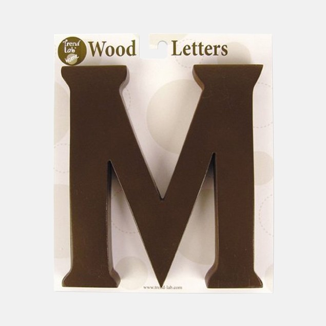 """Trend Lab Brown 6"""" Tall Letter """"M"""""""