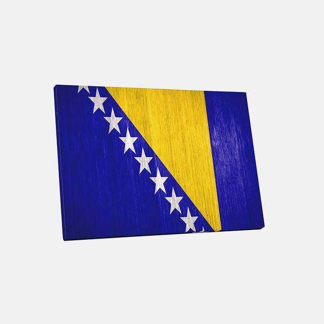 Vintage Bosnia and Herzegovina Flag Canvas Print