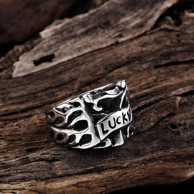 Lucky 7's Stainless Steel Ring