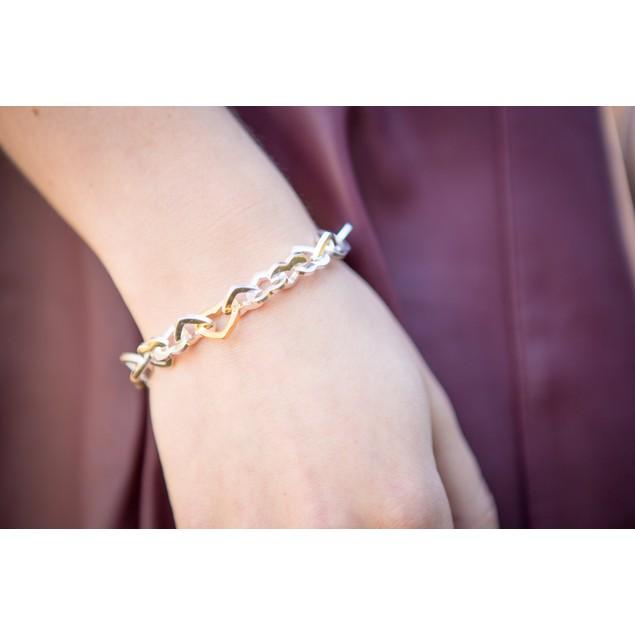 """Heart of Gold Bracelet - 7.5"""" long"""