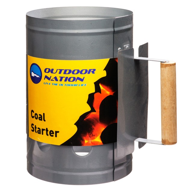 Outdoor Nation Chimney Charcoal Starter with Wooden Handle