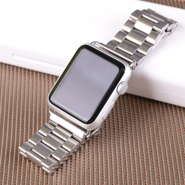 iPM Stainless Steel Metal Replacement Link Strap For Apple Watch