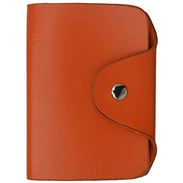 AFONiE Beautiful Full Grain Leather Credit Card Holder Assorted Colors