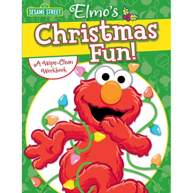 Elmo Christmas Fun Wipe-Clean