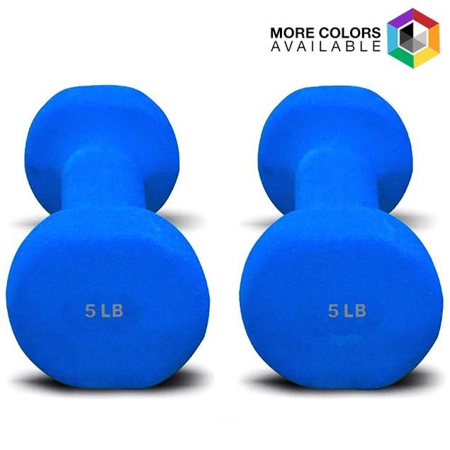 2-Piece Set: Dumbbells with Non-Slip Grip