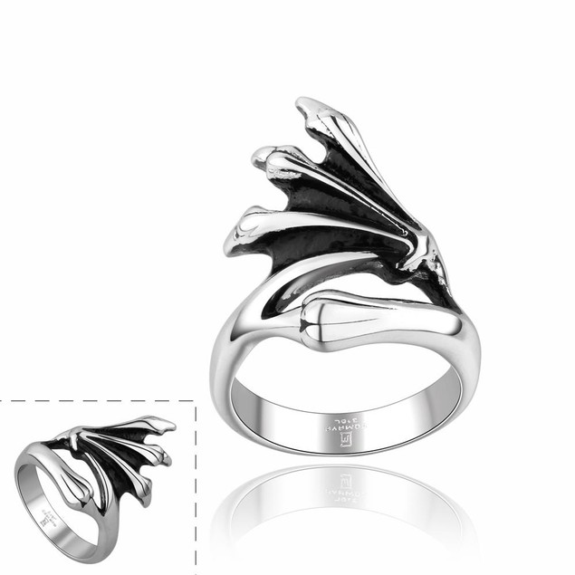 Abstract Emblem Stainless Steel Ring