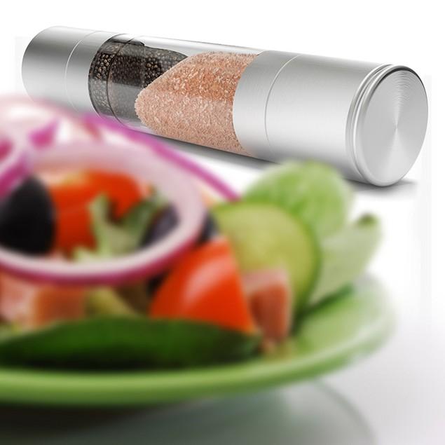 2-in-1 Stainless Steel Salt & Pepper Grinder Set
