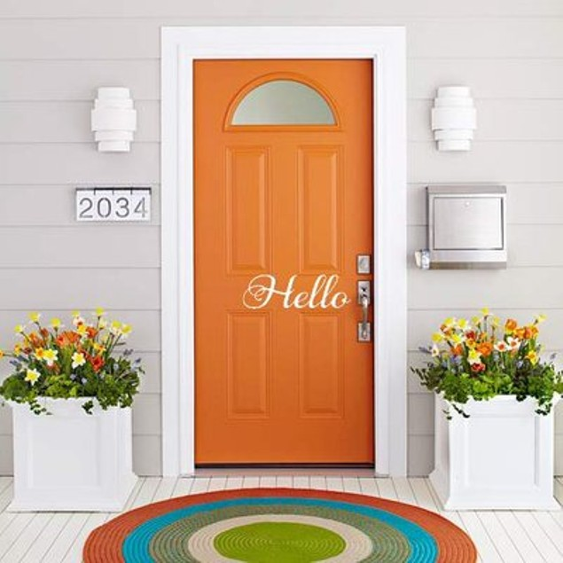 Hello Vinyl Door Decal