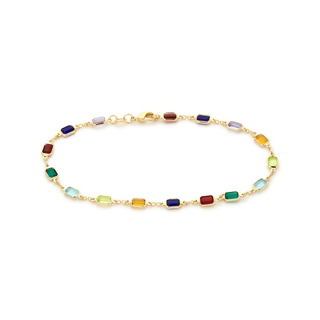 Multi Color Block Anklet
